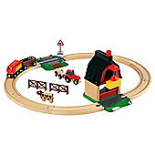 Brio Farm Wooden Railway Set