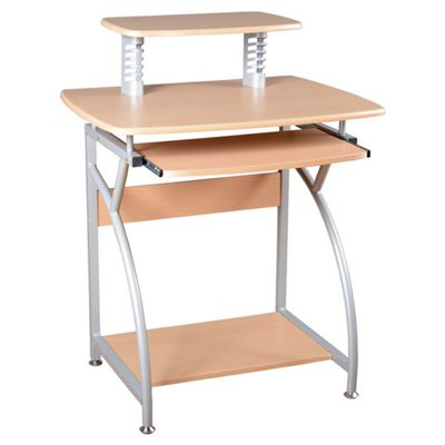 Home Essence Kentwood Computer Desk in Natural and Silver