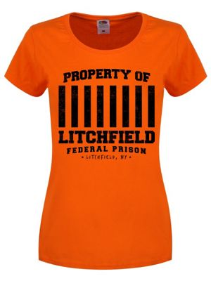 Property Of Litchfield Federal Prison Orange Women's T-shirt