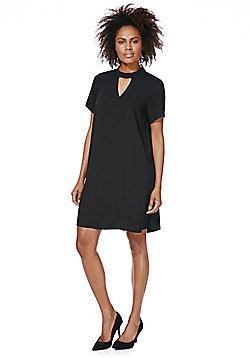 F&F Choker Neck Shift Dress - Black