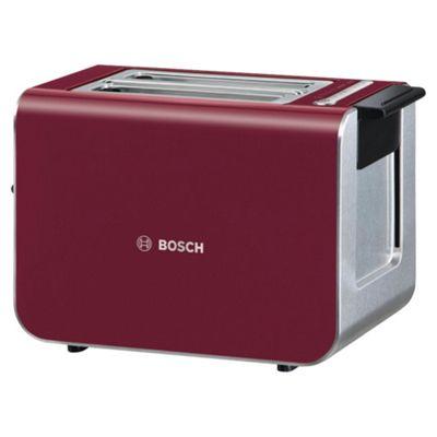 Bosch Styline TAT8614GB 2 Slice Toaster - Red