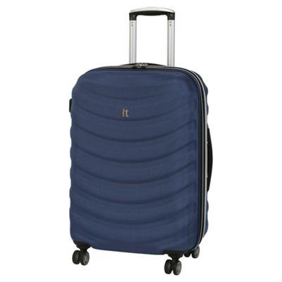 it luggage Waveglider Frameless Medium 8 Wheel Navy Suitcase