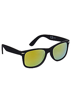 F&F Mirrored Lens Sunglasses One size Black & Yellow