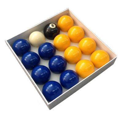 Competition 2'' Blue & Yellow Pool Table Balls (Coin Operated Tables)