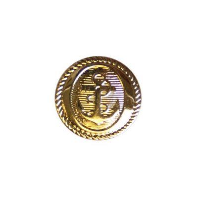 Hemline Gold Anchor Buttons 15mm 7pk