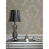 Vicenza Damask Wallpaper - Taupe - Arthouse 270402