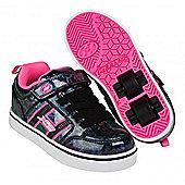 Heelys Bolt Plus Black Hologram/Pink Heely Shoe - Black