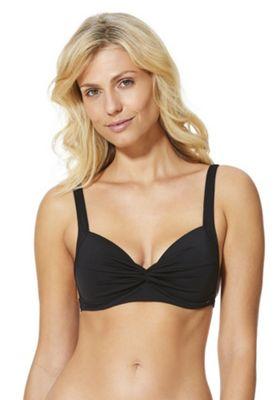 F&F Shaping Swimwear Twist Front Bikini Top Black 8