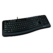 Microsoft Comfort Curve 3000 Wired Keyboard - Black