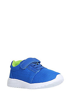 F&F Mesh Riptape Trainers - Cobalt blue