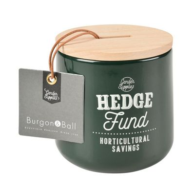 Burgon & Ball Hedge Fund Garden Money Saving Box in Frog Green