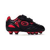 Optimum Razor Velcro Moulded Kids Football Boot Black/Red - Black