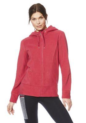 F&F Active Zip-Through Breathable Fleece Hoodie Pink S
