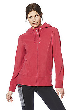 F&F Active Zip-Through Breathable Fleece Hoodie - Pink