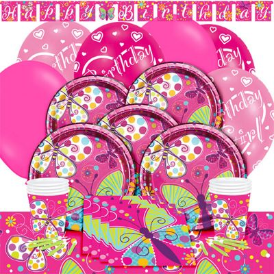 Butterfly Sparkle Deluxe Party Pack for 8