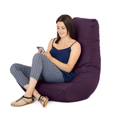 Purple Water Resistant Bean Bag Gaming Chair