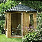11 x 9 Rock Henley Summerhouse - Assembled Garden Wooden Summerhouse 11ft x 9ft (3.35m 2.74m)