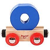 Bigjigs Rail Rail Name Letter O (Dark Blue)