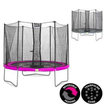 10ft Twist Trampoline Pink / Grey