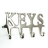 Large Nickel Plated 'KEYS' Hook