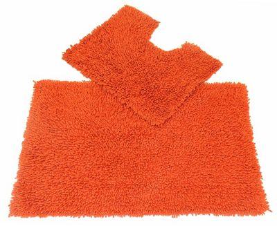 EHC Spice Two Pc Tumble Twist Bath Mat Set