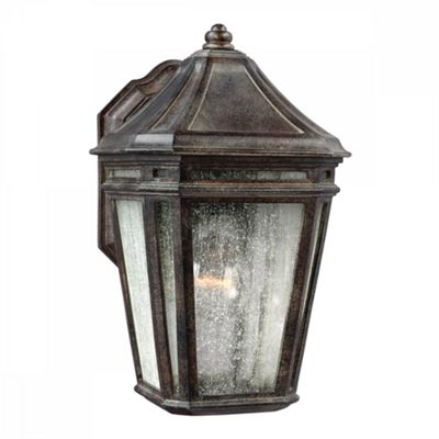 Weathered Chestnut Wall Lantern - 1 x 75W E27