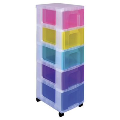 Really useful 5 Drawer 12L Rainbow Tower Storage