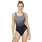 Zoggs Deco Noveau Monochrome Ombre Panel Swimsuit - Black