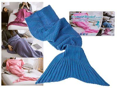 Adult Mermaid Tail Blanket (180cm x 90cm) - Blue