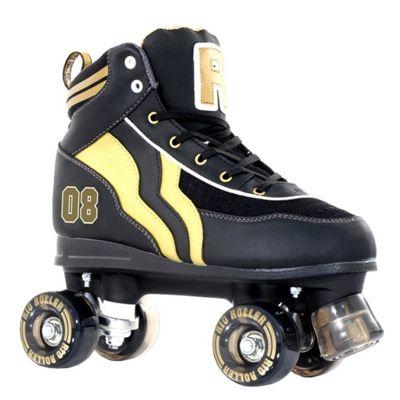 Rio Roller Varsity Quad Skates - Black/Gold - Size - UK 4
