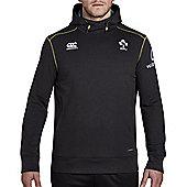 Canterbury Ireland Rugby Training Tech Fleece Hoody 17/18 - Phantom - Black