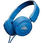 JBL T450 on-Ear Headphone With 1-Button Mic/Remote Blue