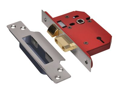 Union StrongBOLT 2203S 3 Lever Mortice Sashlock Stainless Steel 68mm 2.5in Visi