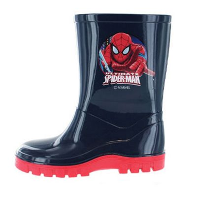 74f39696a04 Buy Spiderman Navy Blue & Red Wellies Various Sizes from our All ...