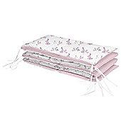 BabyDan BunnyHop 4 Sided Cot Bumper Pink
