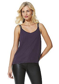 Vero Moda Embellished Strap Cami Top - Purple