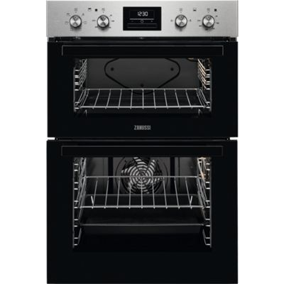 Zanussi ZOD35661XC Built-in Electric Double Oven, Stainless Steel
