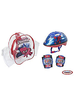 Spider-Man Kids Bike Helmet & Pad Set