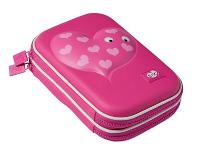 Tinc Double-Decker Character Hardtop Pencil Case (Mallo) - Pink
