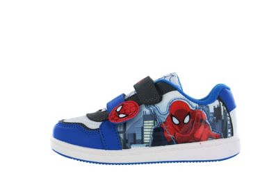 Spiderman Blue and White Canvas Skate Trainers UK Infant Size 7