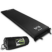 Trail 10cm Single Self-Inflating Camping Mat - Black