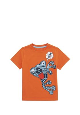 F&F Googly Eyed Frog T-Shirt Orange 12-18 months
