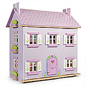 Le Toy Van Lavender Wooden Traditional Dolls House/Dollhouse