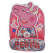 Peppa Pig 'Home Sweet Home' Front Pencil Pocket Backpack