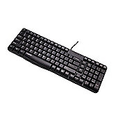 Rapoo N2400 Wired Spill-resistant Keyboard (Black) UK Layout