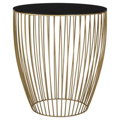 Lamp side tables home furniture tesco direct tesco wire metallic table greentooth Images
