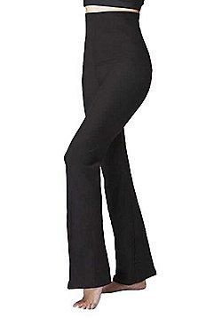 Lightweight Women's Slimming Tummy Control Shapewear High Waist Bootcut Bottoms Black - Long Length - Black