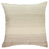 Tesco Embroidered Stripe Natural Cushion