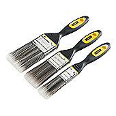 Stanley DynaGrip Synthetic Brush Pack Set of 3 25, 38 & 50mm