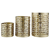 Tesco Gold Candle Surrounds